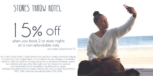 15% Off at Stones Throw When you Book 2 or More Nights at a Non-Refundable Rate
