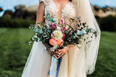 Colorful Dahlia Wedding Bouquet