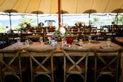 Wedding Reception at The ViewPoint Hotel, Farm table wedding reception