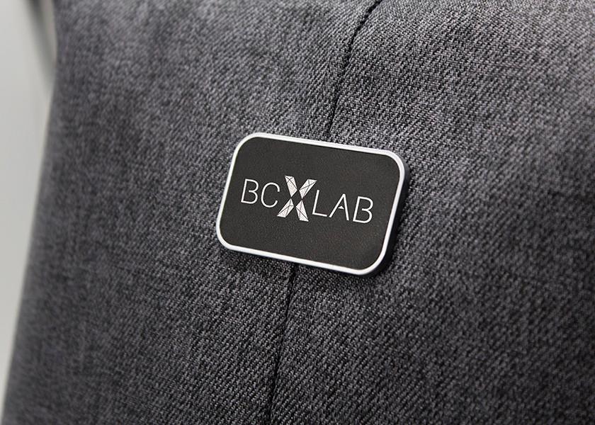 Branding on badge