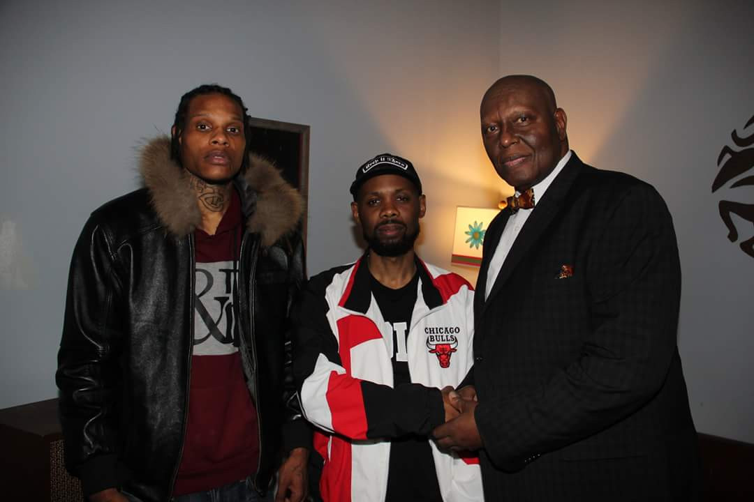 Brother Student Minister Abdullah with his son Jaleel aka CutThroat Maniac and Cormega of Mobb Deep