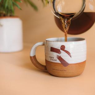 Mug design for Cafe Steam