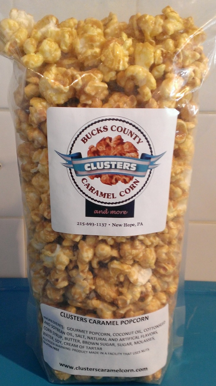Our gourmet popcorn is made fresh daily and is offered in a variety of mouth-watering flavors like our original CLUSTERS Caramel Corn, Peanut Butter Blast, Cookie Explosion, and White Cheddar, just to name a few.