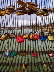 Love locks on the Seine