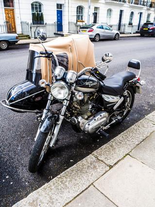 A motorbike in Chelsea