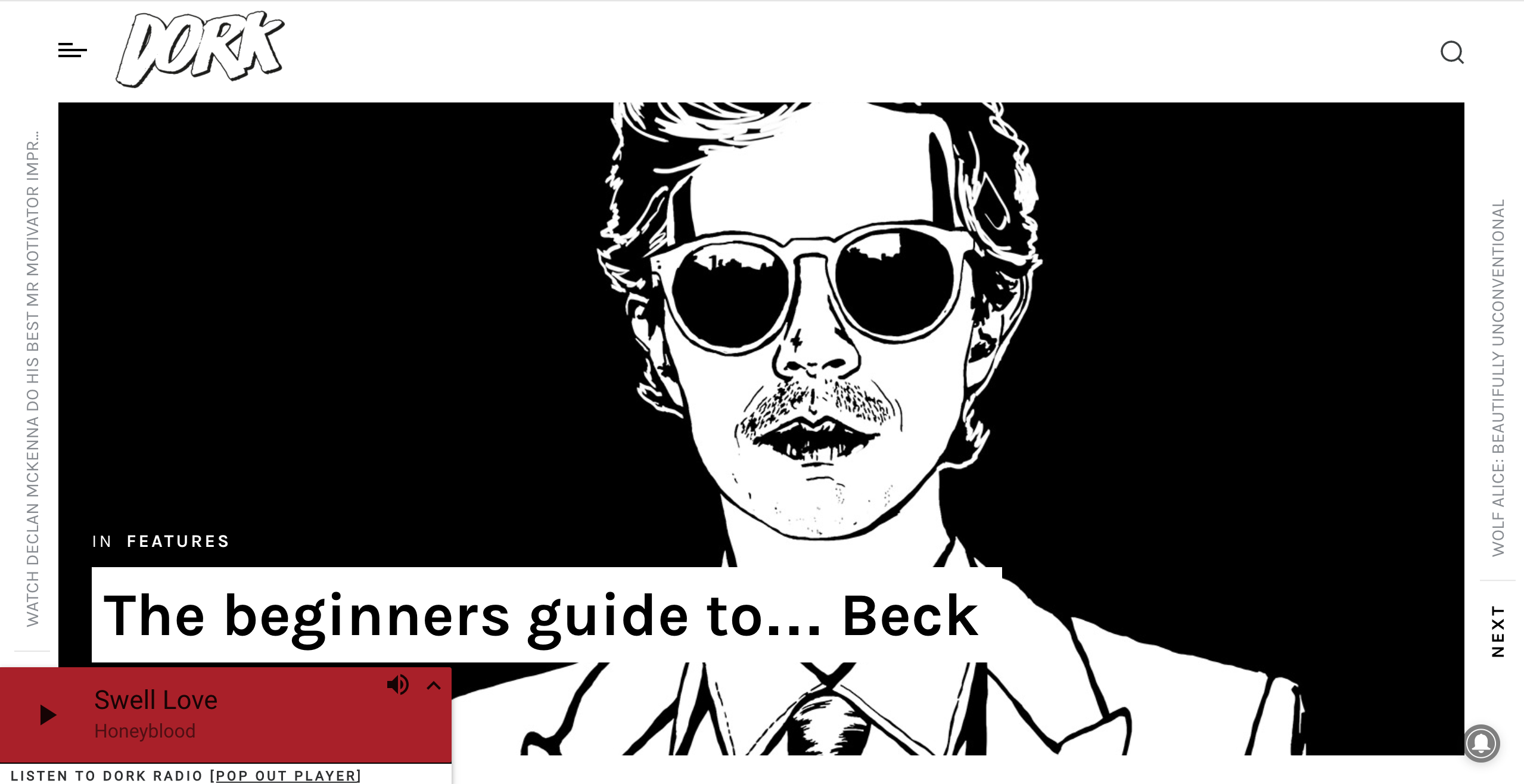 Beck for Dork Magazine