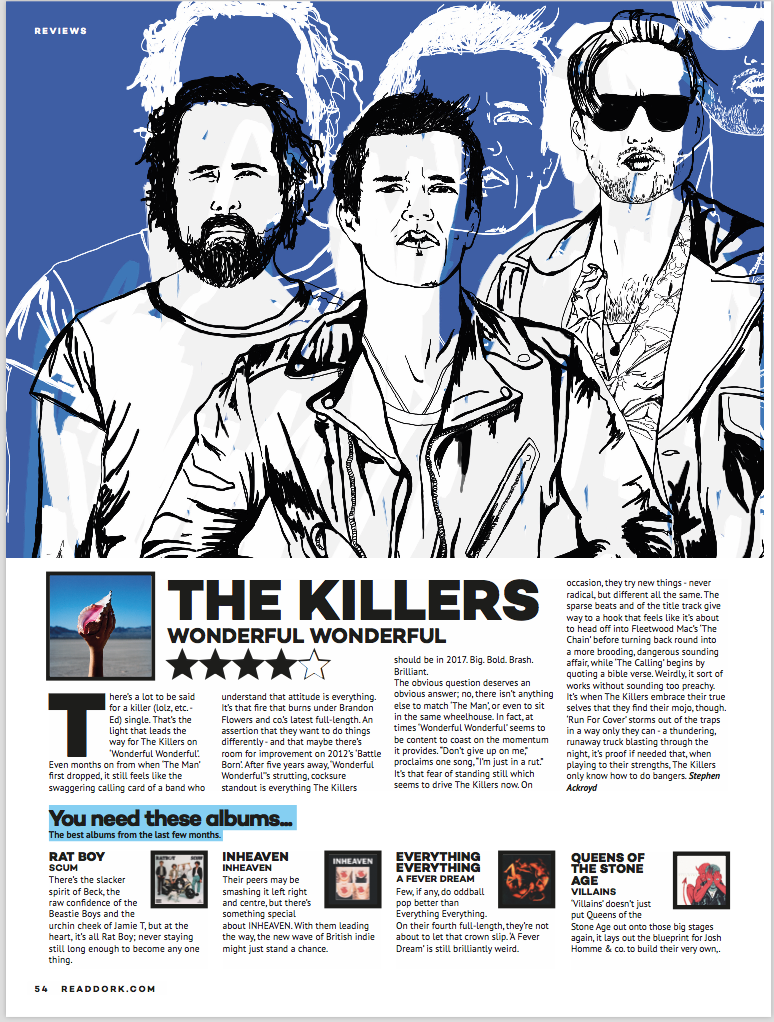 The Killers for Dork Magazine