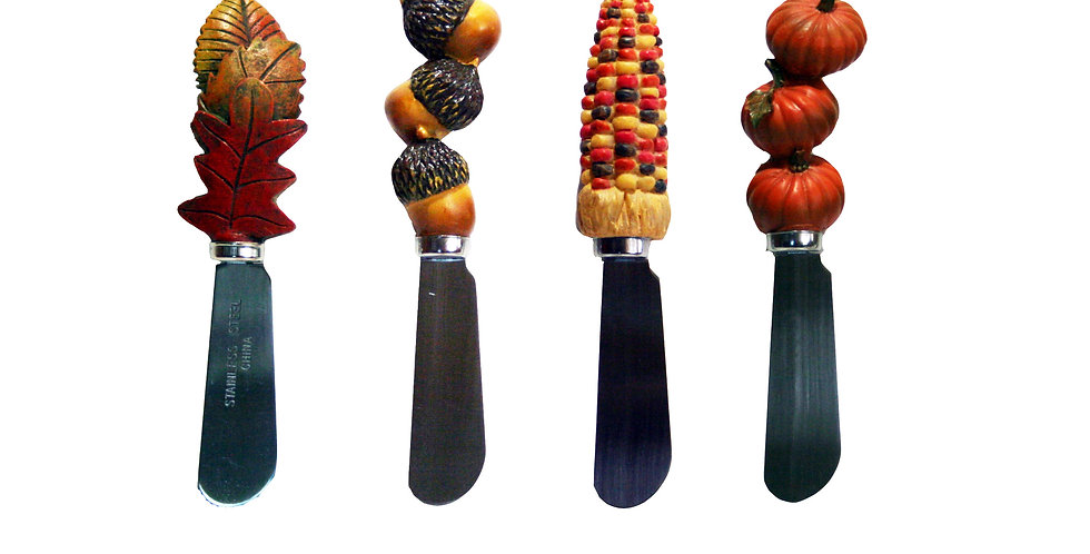 Cheese Spreaders Knives Set of 4 - Fall