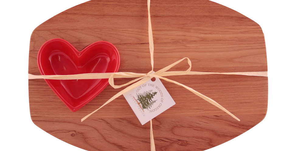 Small Heart Board with Heart Shaped Bowl