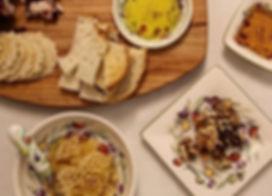Colorful Olives. Olive Wreath. Dip Bowls. Tidbit Plate. Spreader.