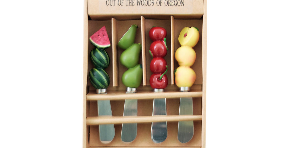Set of 4 Spreader - Summer Fruit