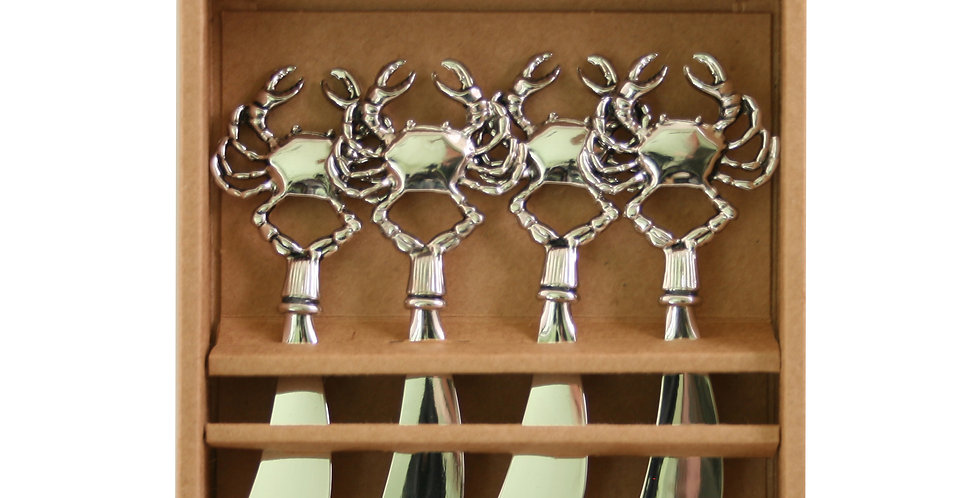 Metal Crab- Set of 4