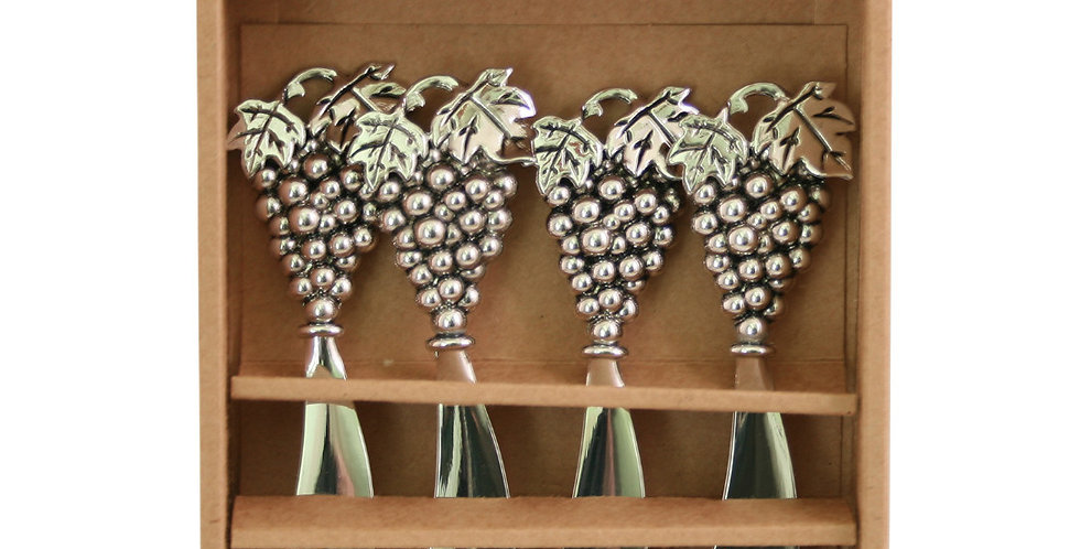 Metal Grapes - Set of 4