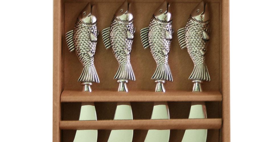 Metal Fish- Set of 4