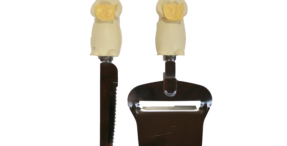 Cheese Knife & Planer Set - Mouse with Cheese