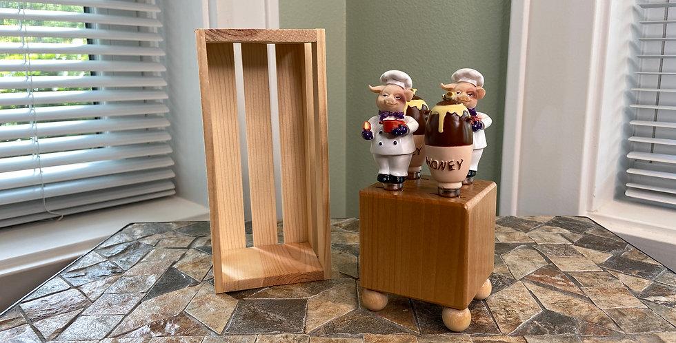 Mini Block and Crate Set - Pig Chef and Honey Pot