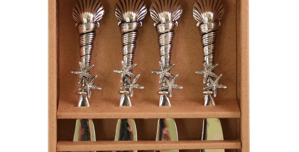 Metal Seashell- Set of 4