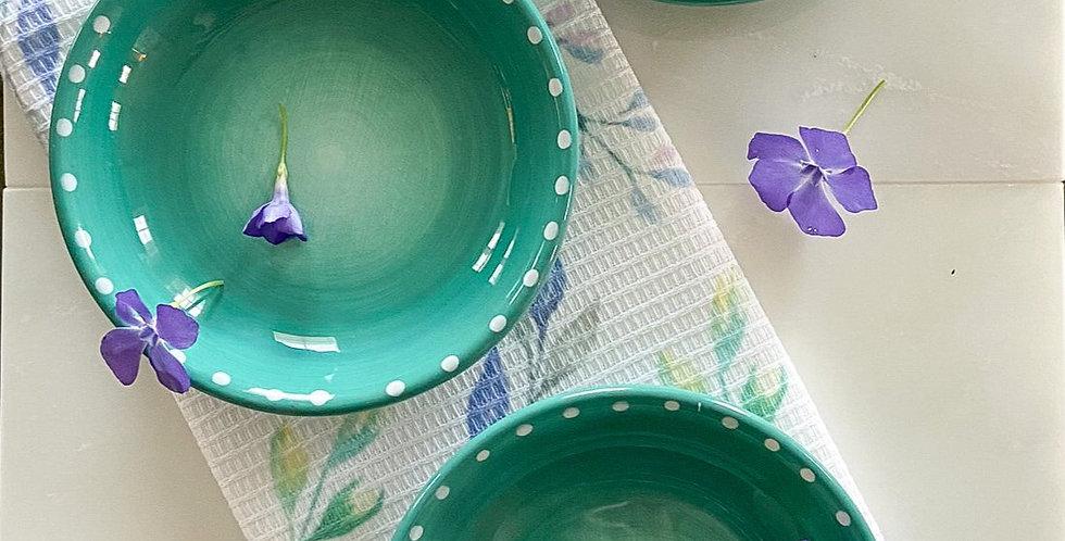 Set of 4 Large Round Ceramic Bowls
