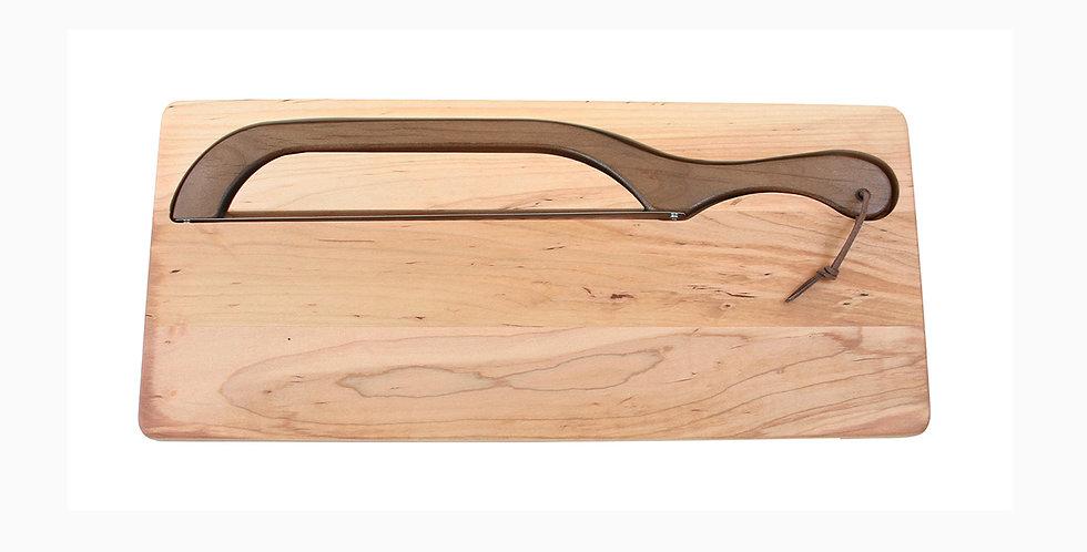 Maple Knife Board - With Walnut Bread Slicer