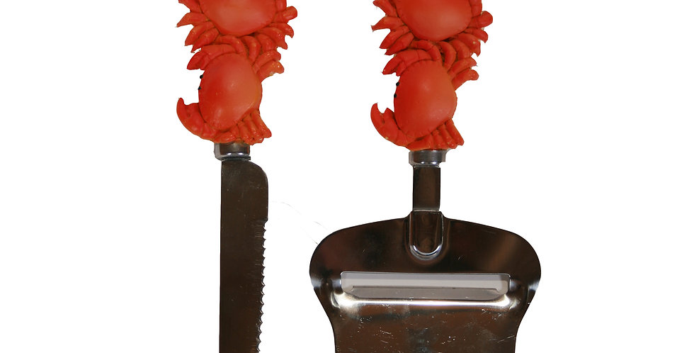Cheese Knife & Planer Set - Crab