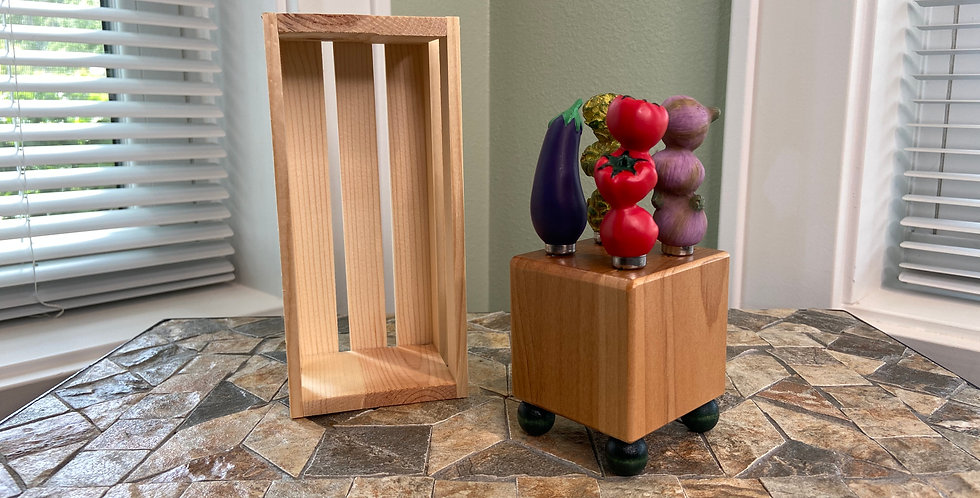 Mini Block and Crate Set - Vegetables