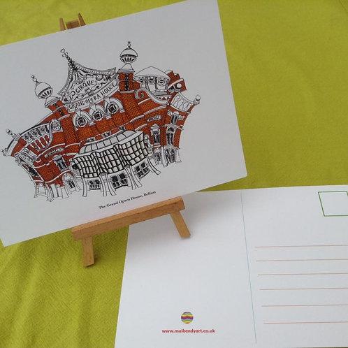 The Grand Opera House postcard/A5 miniprint