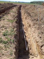 Typical sub-surface field: laying out lateral piping
