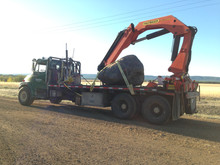 15,000 lb rock ready for delivery