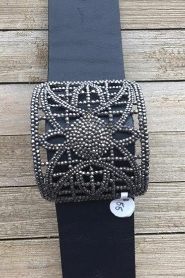 Repurposed shoe buckle, vintage handmade, upcycled jewelry