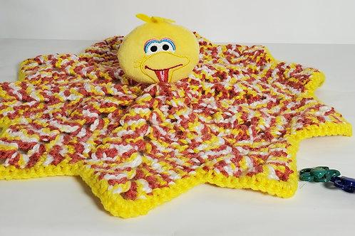 Baby Lovey Stuffed Toy Crocheted Big Bird Blanket Toy