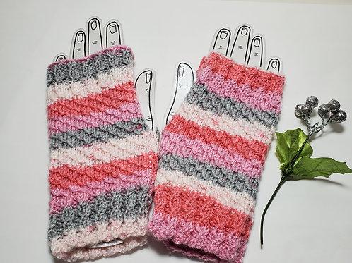 Hand Knitted Fingerless Gloves Adult Women's Knit Gloves