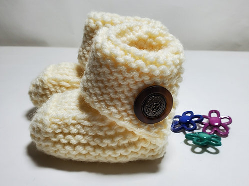 Hand Knitted Baby Boots Newborn 0-3 month Baby Shoes