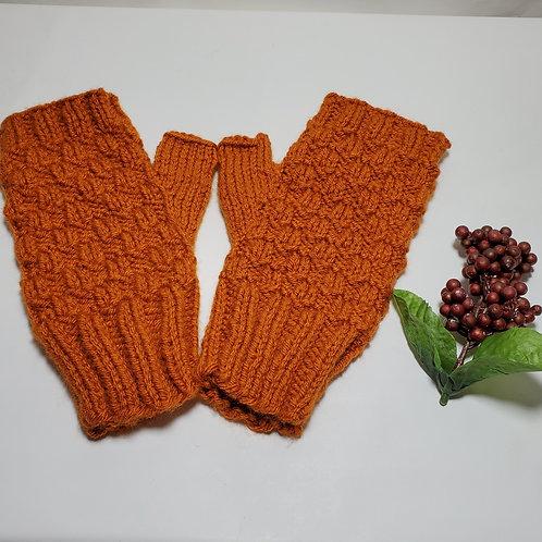 Pumpkin Fingerless mitts