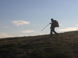 Vaeltaja Hetta-Pallasreitillä