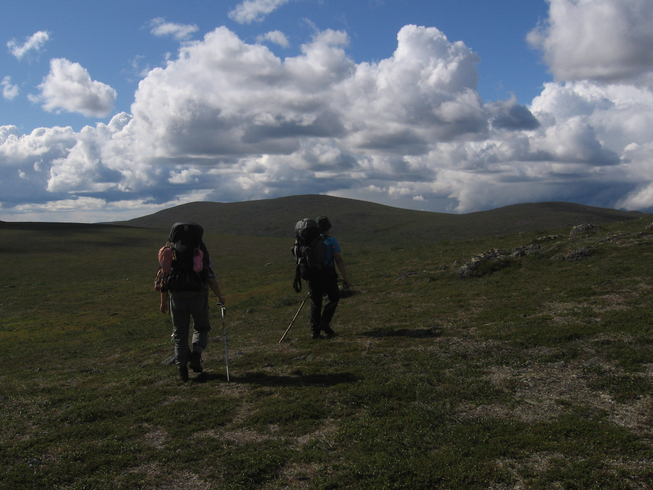 Vaeltajia Muotkalla