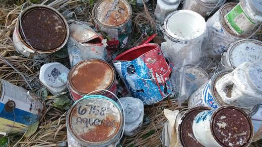 TOXIC: Garbage Human rich orbrien Dumps Toxic Garbage In Woods?