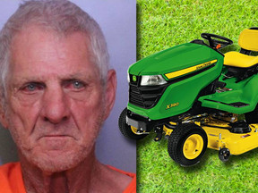 Drunk Florida Man On Riding Mower Also High On Cocaine - Gets DUI