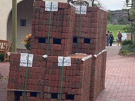 Why Did Pallets Of Bricks Show Up In Downtown?
