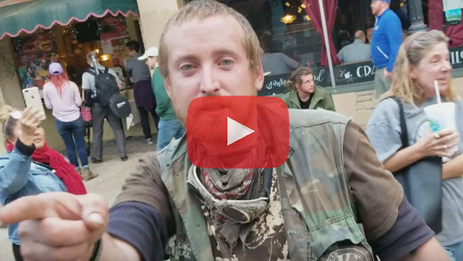 WATCH: Vagrants VS Vagrant Watch Cameraman On St. George Street