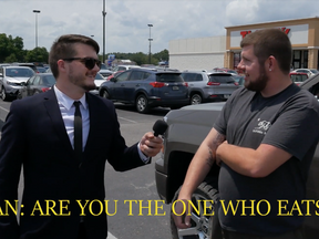 VIDEO: Reporter Eats Ass During Interview With 'I Eat Ass' Florida Man - MUST SEE