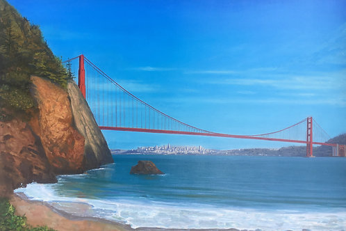 San Francisco Oil Painting from Imagination