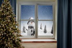 SnowmanWindowDigitalTree