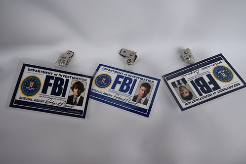 FBI Badges - Set of 3 Characters