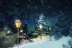 ChristmasTrainSnow