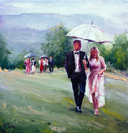 Wedding oil portrait
