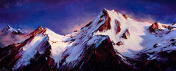 Mountains Painting Print