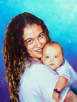 Custom portrait Mother and Child