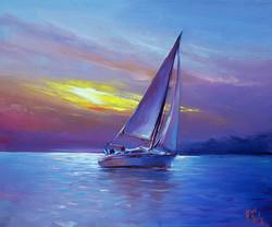 Sail boat painting