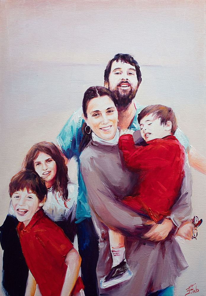family commission painting