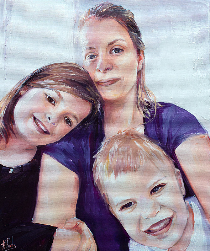 family portrait painting art